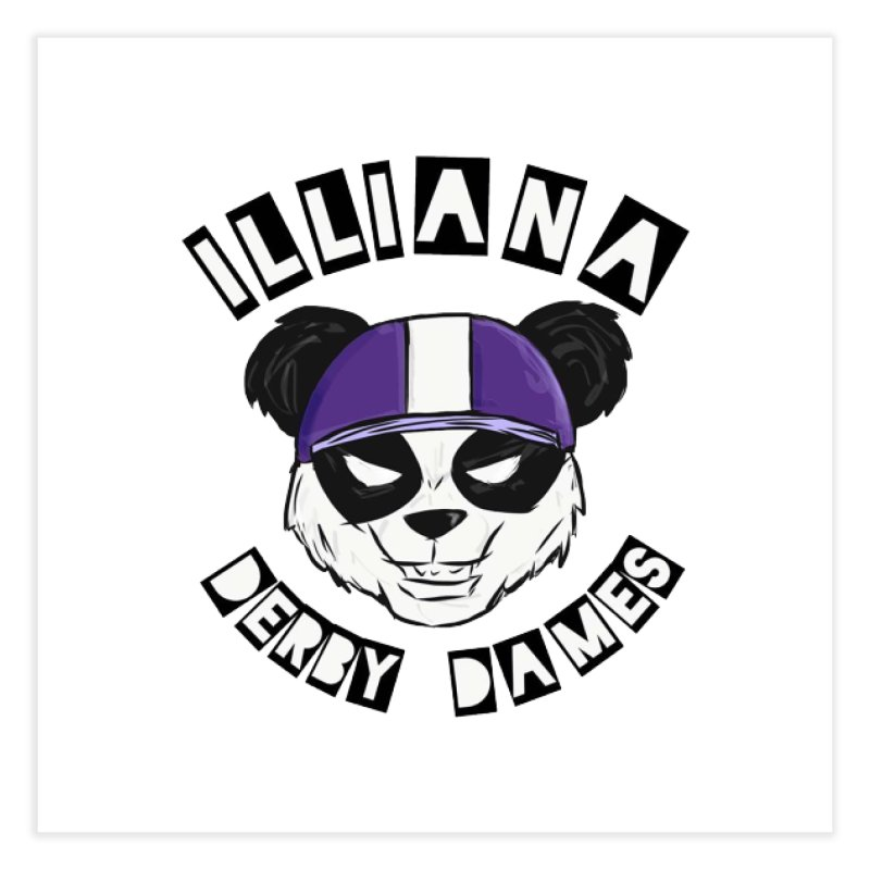 Pandamonium Home Fine Art Print by Illiana Derby Dames's Team Merch Shop