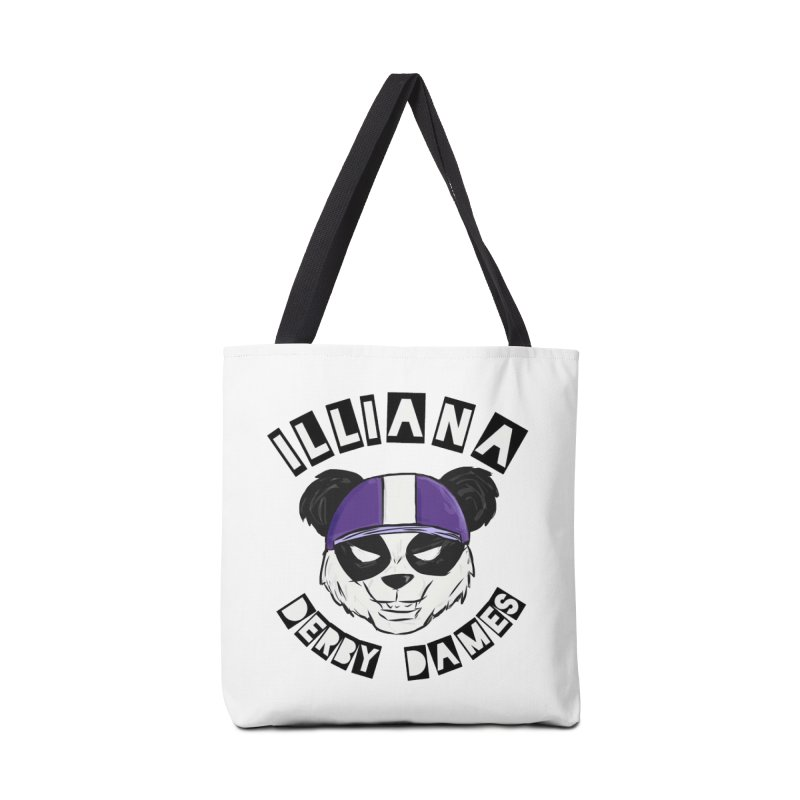 Pandamonium Accessories Tote Bag Bag by Illiana Derby Dames's Team Merch Shop