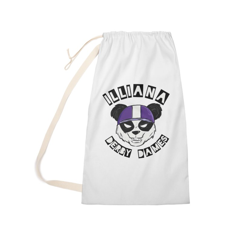 Pandamonium Accessories Laundry Bag Bag by Illiana Derby Dames's Team Merch Shop