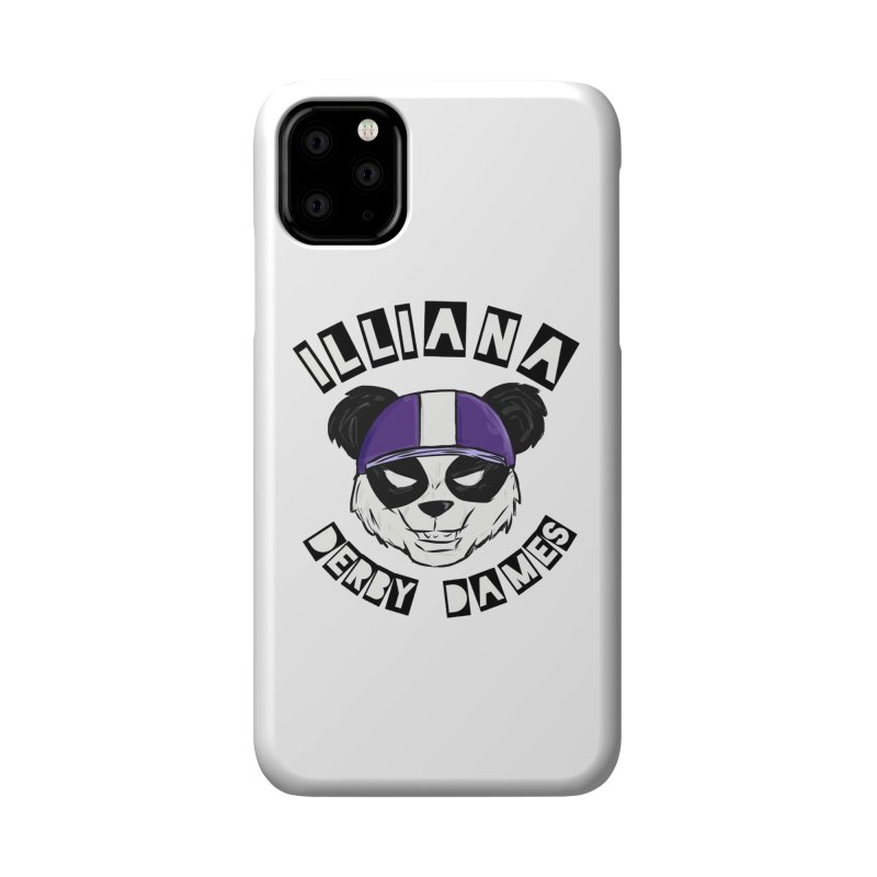 Pandamonium Accessories Phone Case by Illiana Derby Dames's Team Merch Shop