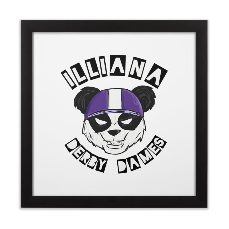 Pandamonium Home Framed Fine Art Print by Illiana Derby Dames's Team Merch Shop