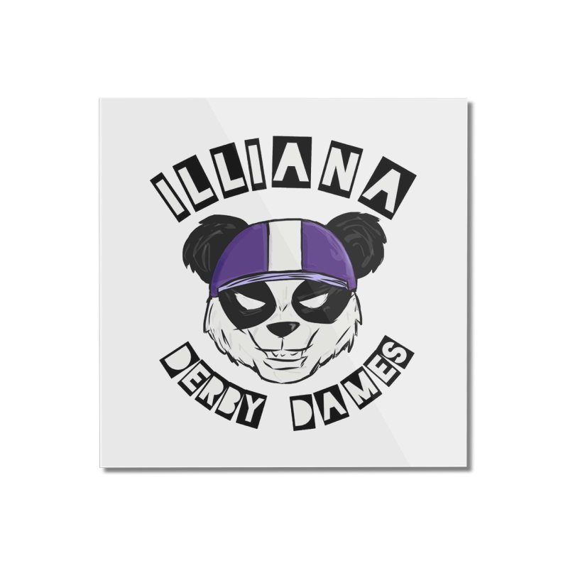 Pandamonium Home Mounted Acrylic Print by Illiana Derby Dames's Team Merch Shop