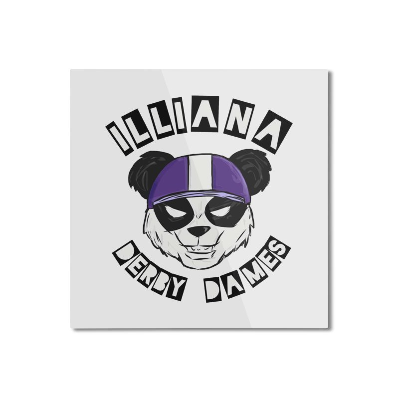 Pandamonium Home Mounted Aluminum Print by Illiana Derby Dames's Team Merch Shop