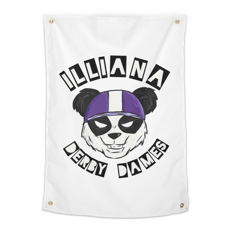 Pandamonium Home Tapestry by Illiana Derby Dames's Team Merch Shop