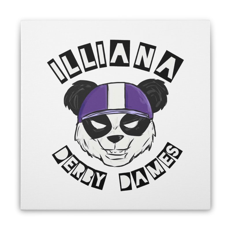 Pandamonium Home Stretched Canvas by Illiana Derby Dames's Team Merch Shop