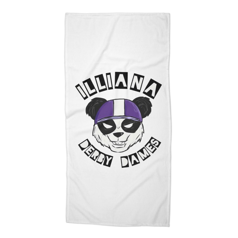 Pandamonium Accessories Beach Towel by Illiana Derby Dames's Team Merch Shop