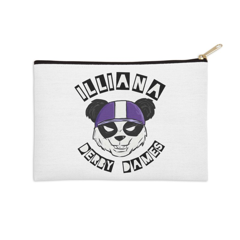 Pandamonium Accessories Zip Pouch by Illiana Derby Dames's Team Merch Shop