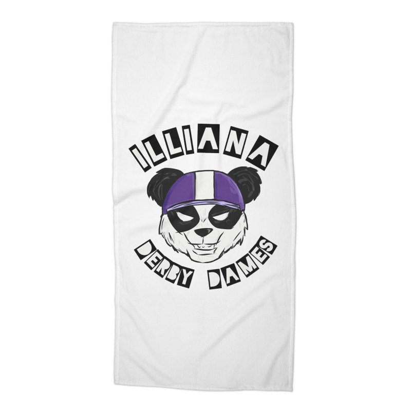 Pandamonium Accessories Beach Towel by Illiana Derby Dames's Team Merch Shop