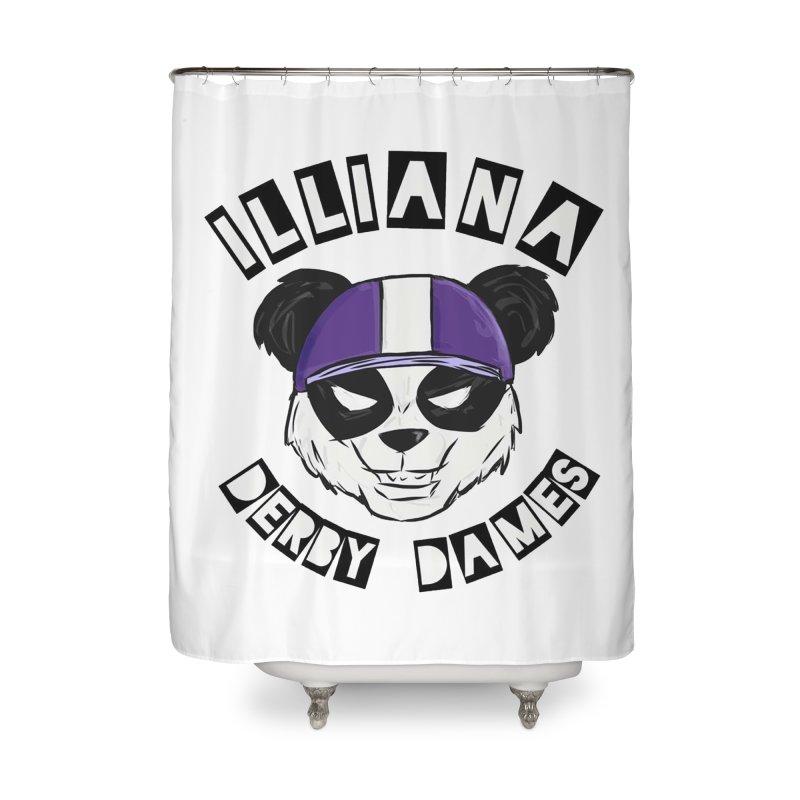 Pandamonium Home Shower Curtain by Illiana Derby Dames's Team Merch Shop