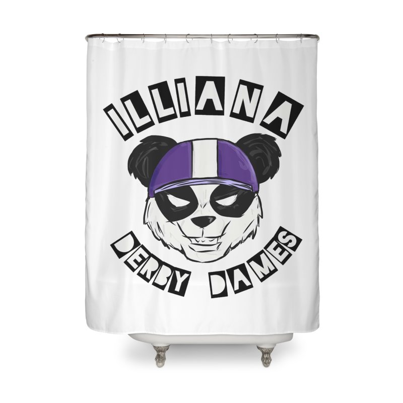 Pandamonium Home Shower Curtain by Illiana Derby Dames's Team Merch Shop