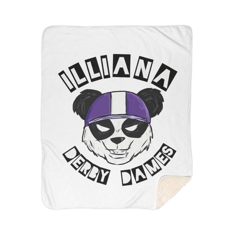 Pandamonium Home Sherpa Blanket Blanket by Illiana Derby Dames's Team Merch Shop
