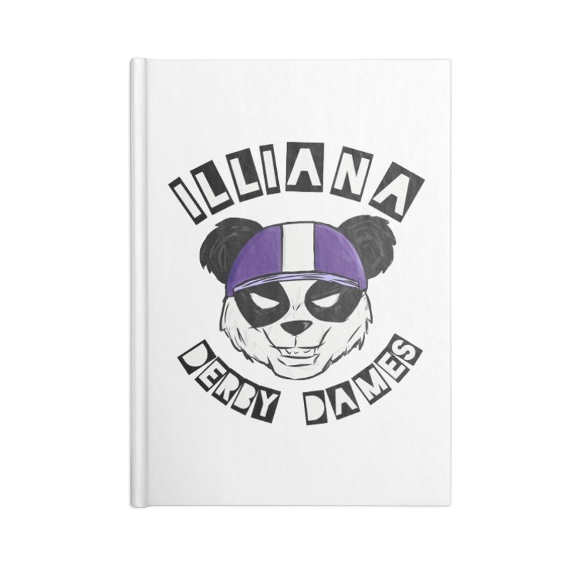 Pandamonium Accessories Lined Journal Notebook by Illiana Derby Dames's Team Merch Shop