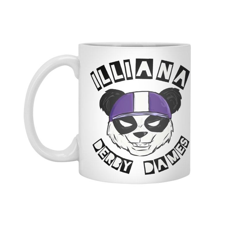 Pandamonium Accessories Mug by Illiana Derby Dames's Team Merch Shop