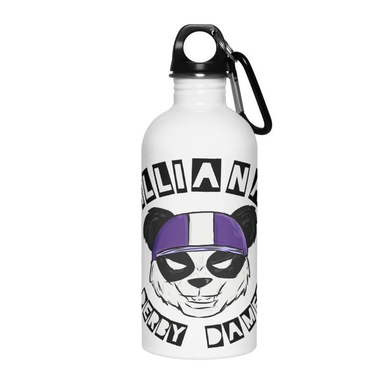 Pandamonium Accessories Water Bottle by Illiana Derby Dames's Team Merch Shop