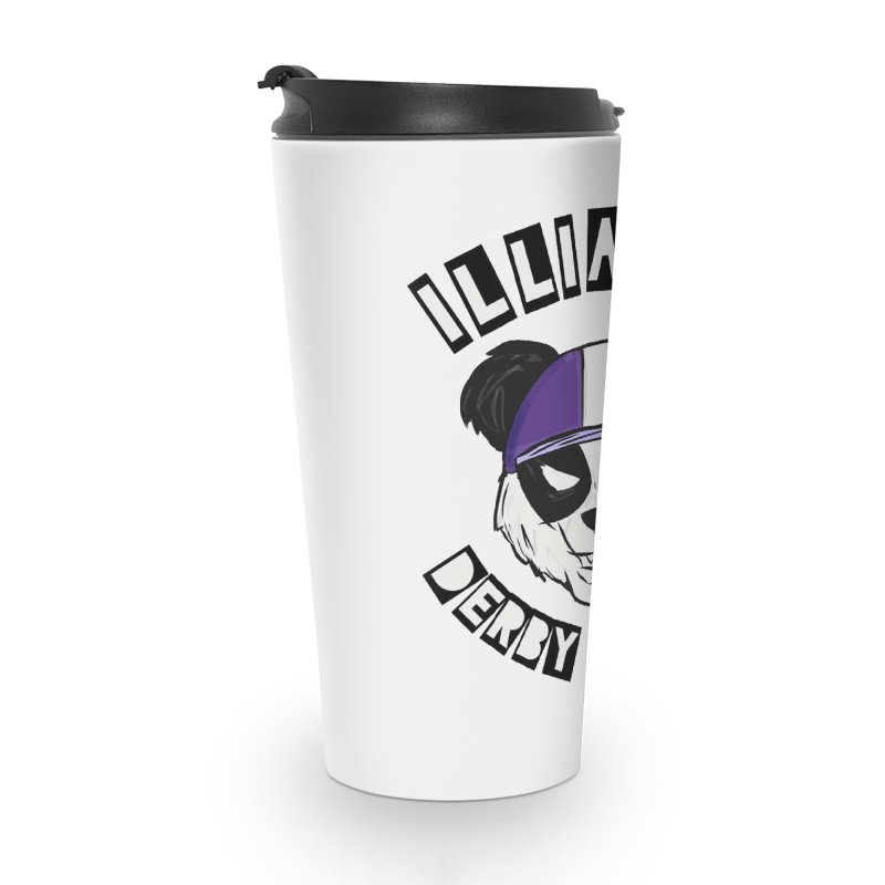 Pandamonium Accessories Travel Mug by Illiana Derby Dames's Team Merch Shop