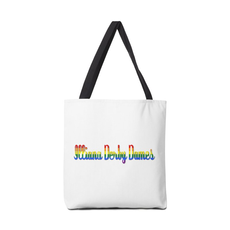 Rainbow IDD Accessories Tote Bag Bag by Illiana Derby Dames's Team Merch Shop