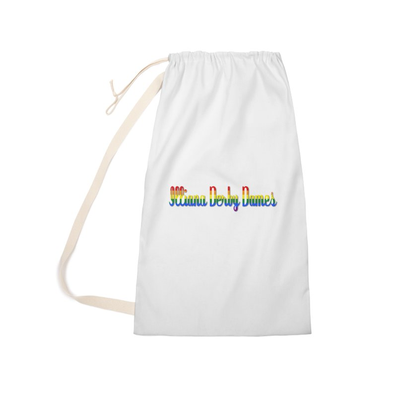 Rainbow IDD Accessories Laundry Bag Bag by Illiana Derby Dames's Team Merch Shop