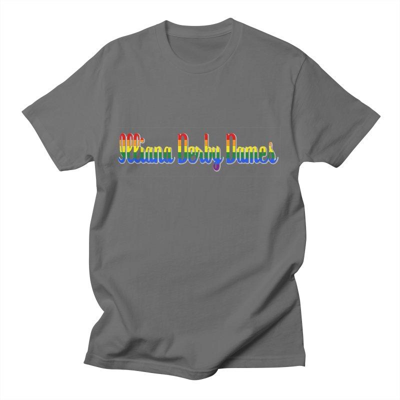 Rainbow IDD Men's T-Shirt by Illiana Derby Dames's Team Merch Shop