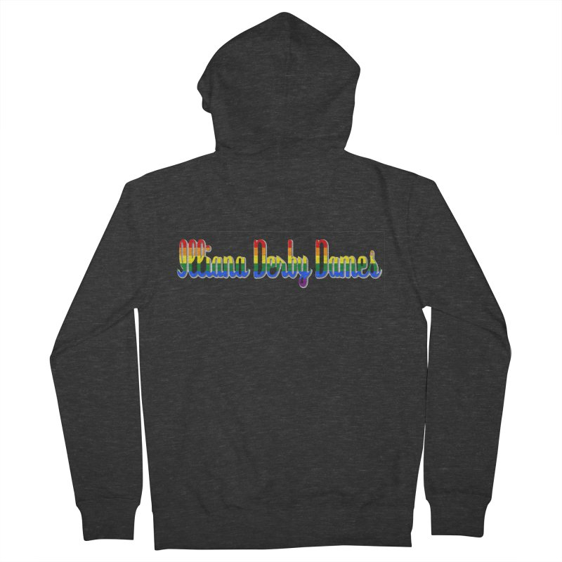 Rainbow IDD Women's French Terry Zip-Up Hoody by Illiana Derby Dames's Team Merch Shop