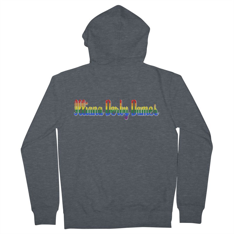 Rainbow IDD Men's Zip-Up Hoody by Illiana Derby Dames's Team Merch Shop