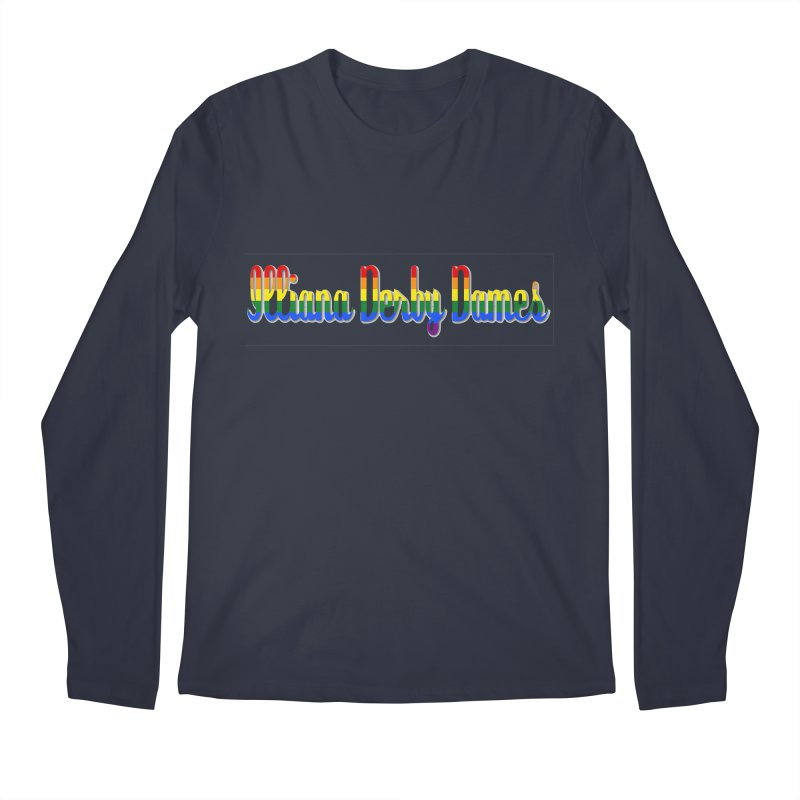 Rainbow IDD Men's Regular Longsleeve T-Shirt by Illiana Derby Dames's Team Merch Shop