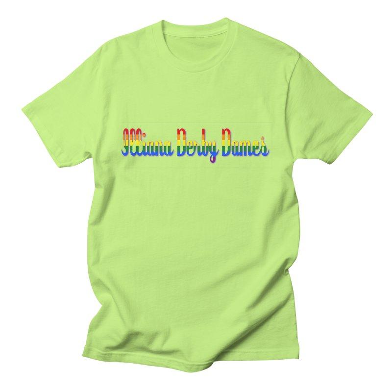 Rainbow IDD Men's Regular T-Shirt by Illiana Derby Dames's Team Merch Shop