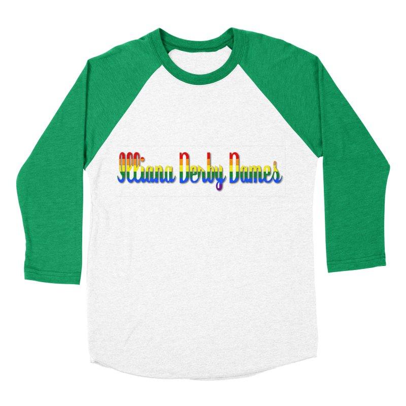 Rainbow IDD Women's Baseball Triblend T-Shirt by Illiana Derby Dames's Team Merch Shop