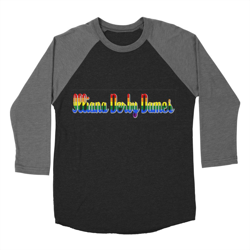 Rainbow IDD Women's Baseball Triblend Longsleeve T-Shirt by Illiana Derby Dames's Team Merch Shop