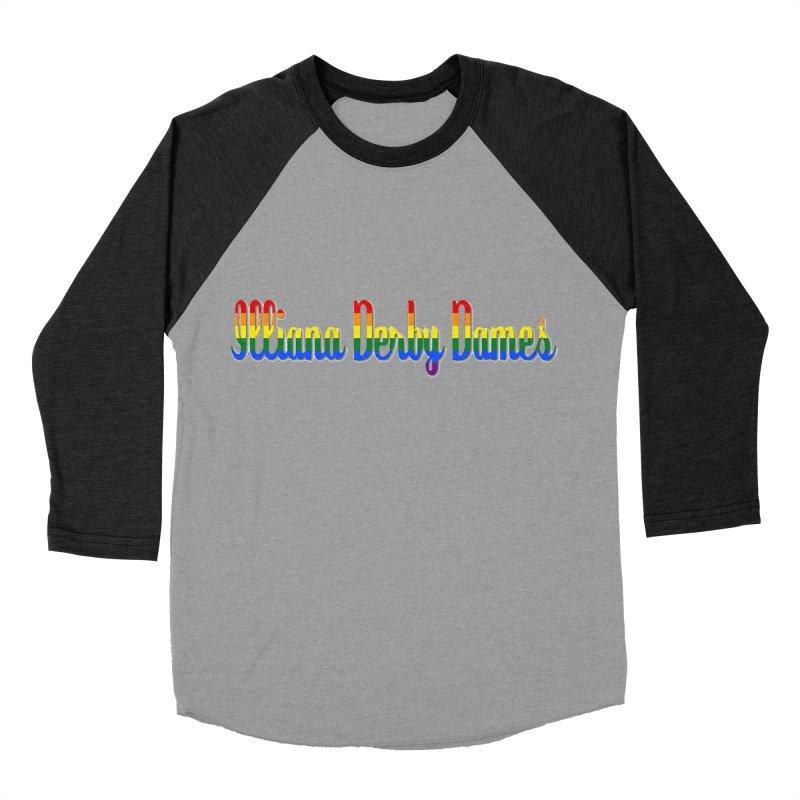 Rainbow IDD Women's Baseball Triblend Longsleeve T-Shirt by Illiana Derby Dames's Team Merch Shop