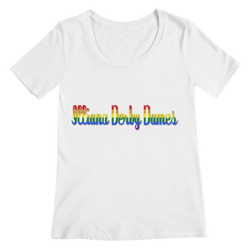 Rainbow IDD Women's Regular Scoop Neck by Illiana Derby Dames's Team Merch Shop