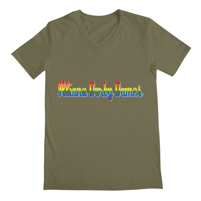 Rainbow IDD Men's Regular V-Neck by Illiana Derby Dames's Team Merch Shop