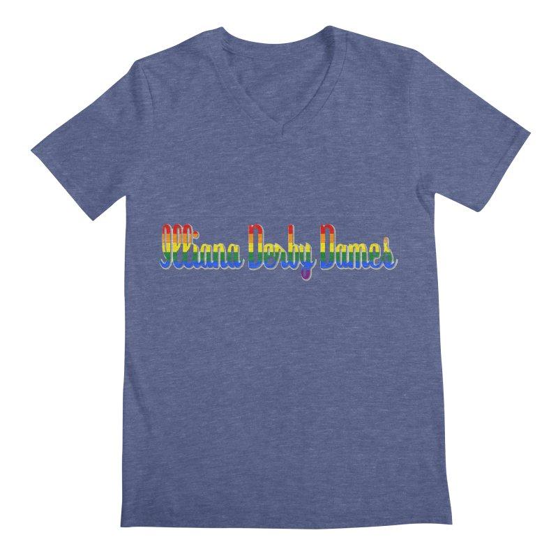 Rainbow IDD Men's Regular V-Neck by Illiana Derby Dames's Team Merch Shop