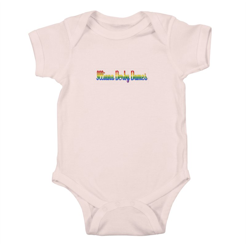 Rainbow IDD Kids Baby Bodysuit by Illiana Derby Dames's Team Merch Shop