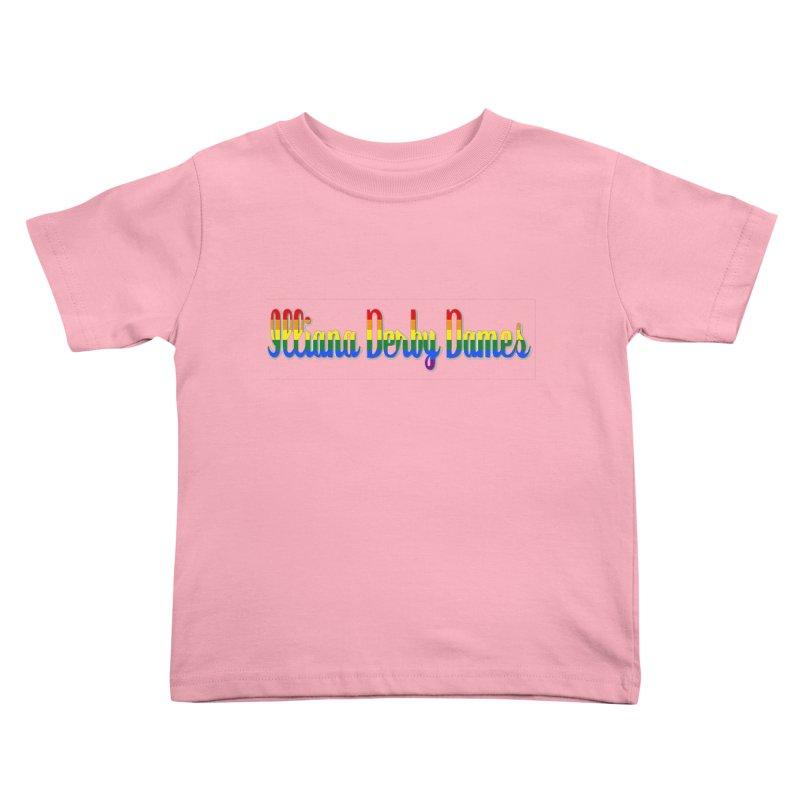 Rainbow IDD Kids Toddler T-Shirt by Illiana Derby Dames's Team Merch Shop