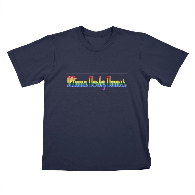 Rainbow IDD Kids T-Shirt by Illiana Derby Dames's Team Merch Shop