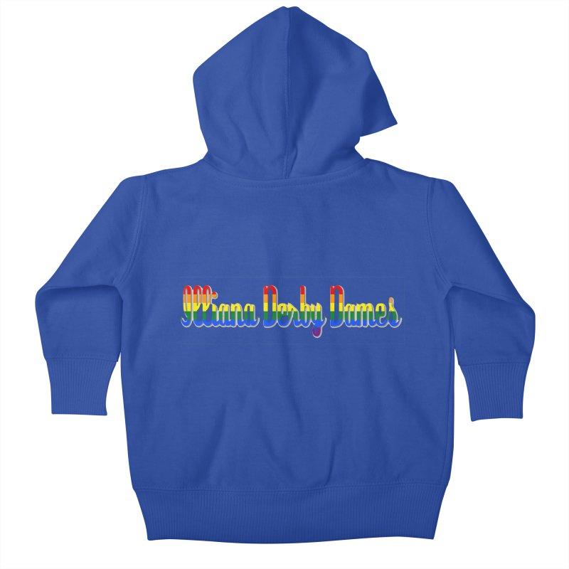 Rainbow IDD Kids Baby Zip-Up Hoody by Illiana Derby Dames's Team Merch Shop