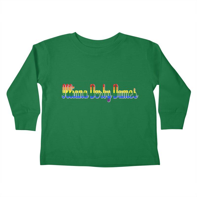 Rainbow IDD Kids Toddler Longsleeve T-Shirt by Illiana Derby Dames's Team Merch Shop