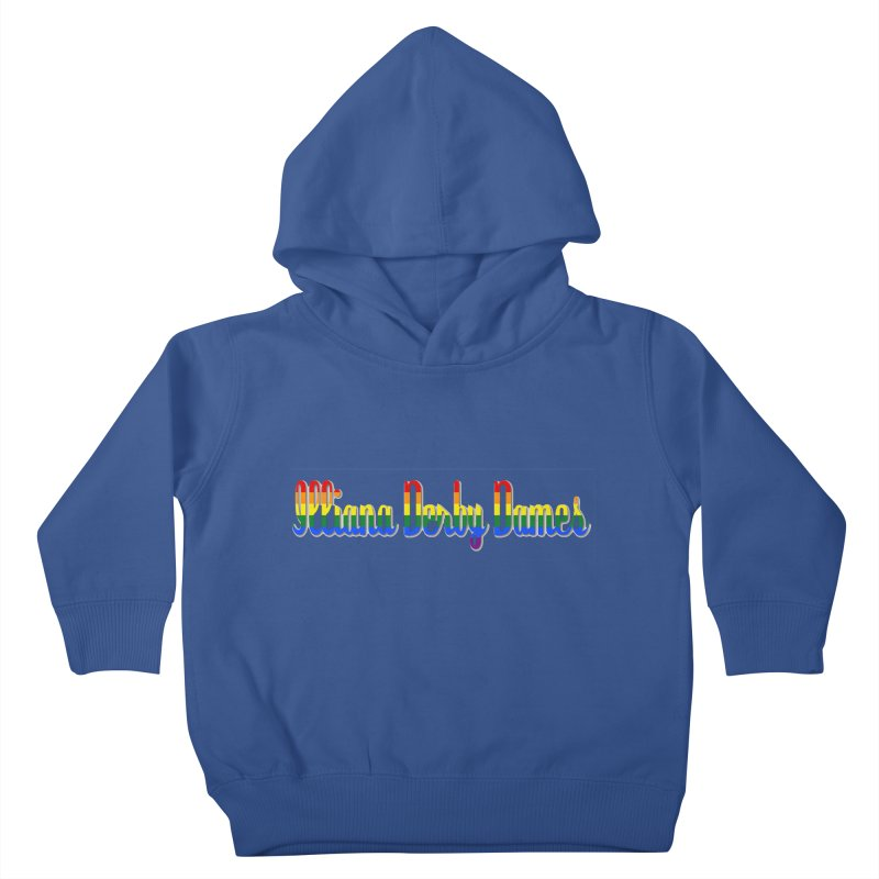 Rainbow IDD Kids Toddler Pullover Hoody by Illiana Derby Dames's Team Merch Shop