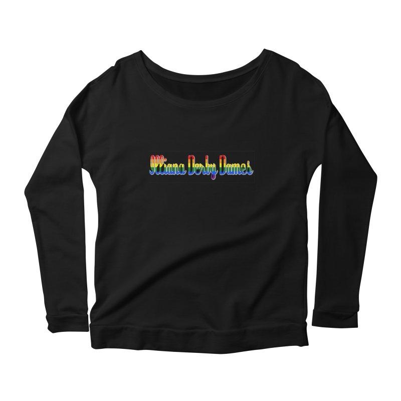 Rainbow IDD Women's Scoop Neck Longsleeve T-Shirt by Illiana Derby Dames's Team Merch Shop