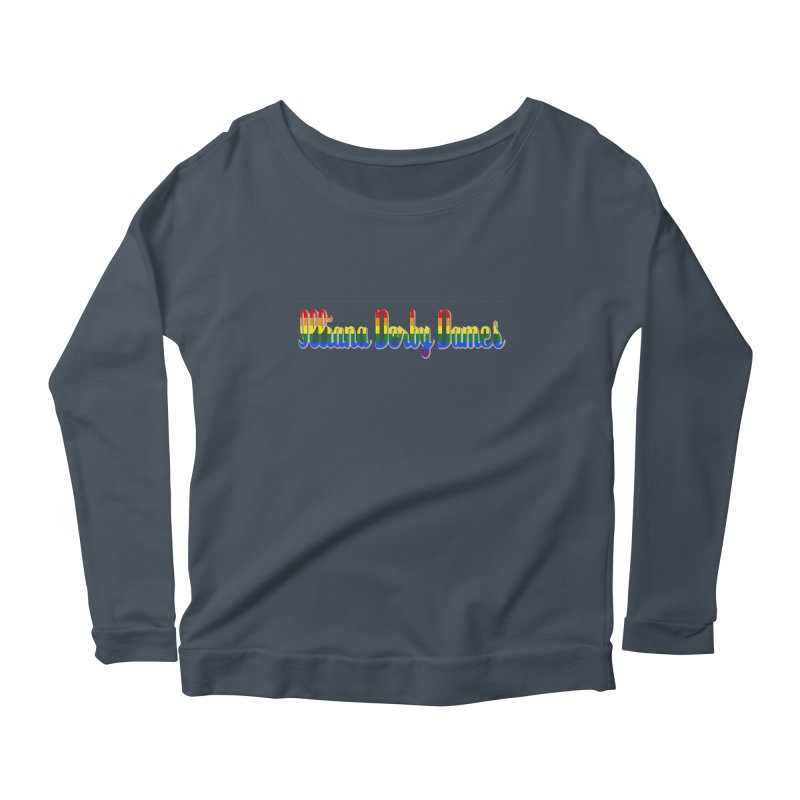 Rainbow IDD Women's Scoop Neck Longsleeve T-Shirt by Illiana Derby Dames's Team Merch Shop