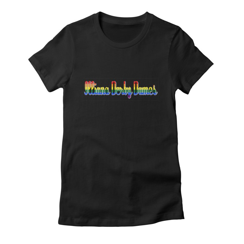 Rainbow IDD Women's Fitted T-Shirt by Illiana Derby Dames's Team Merch Shop
