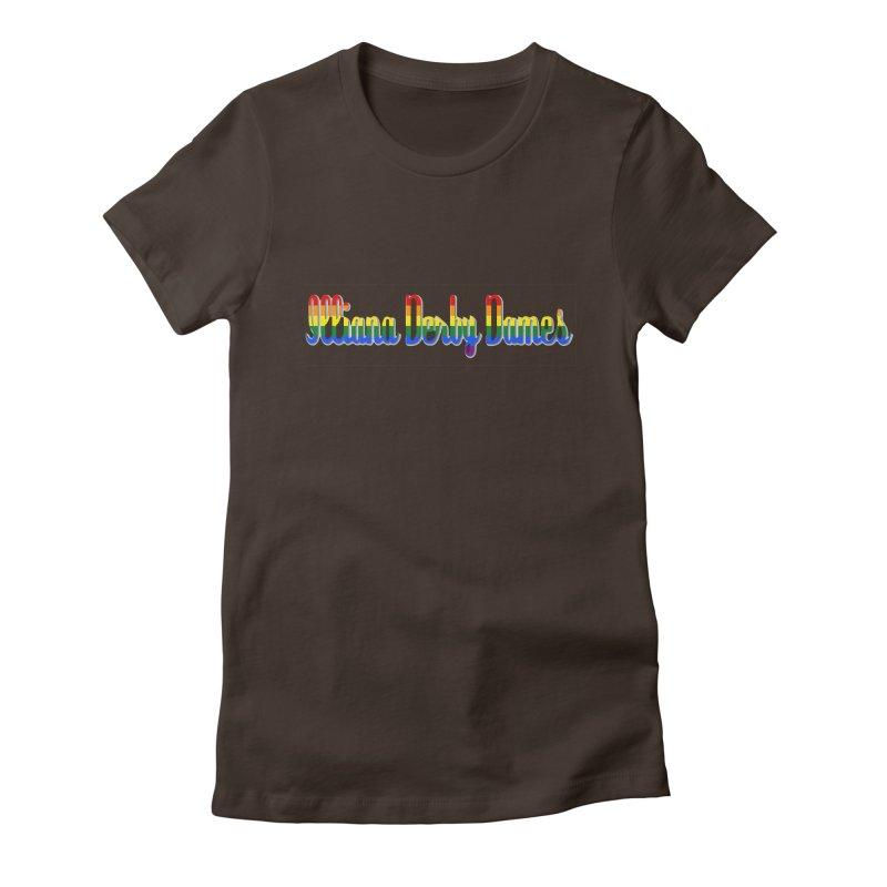 Rainbow IDD Women's Fitted T-Shirt by Illiana Derby Dames's Team Merch Shop
