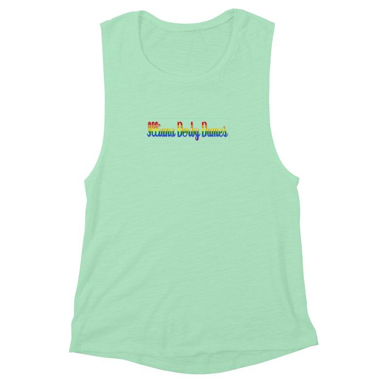 Rainbow IDD Women's Muscle Tank by Illiana Derby Dames's Team Merch Shop