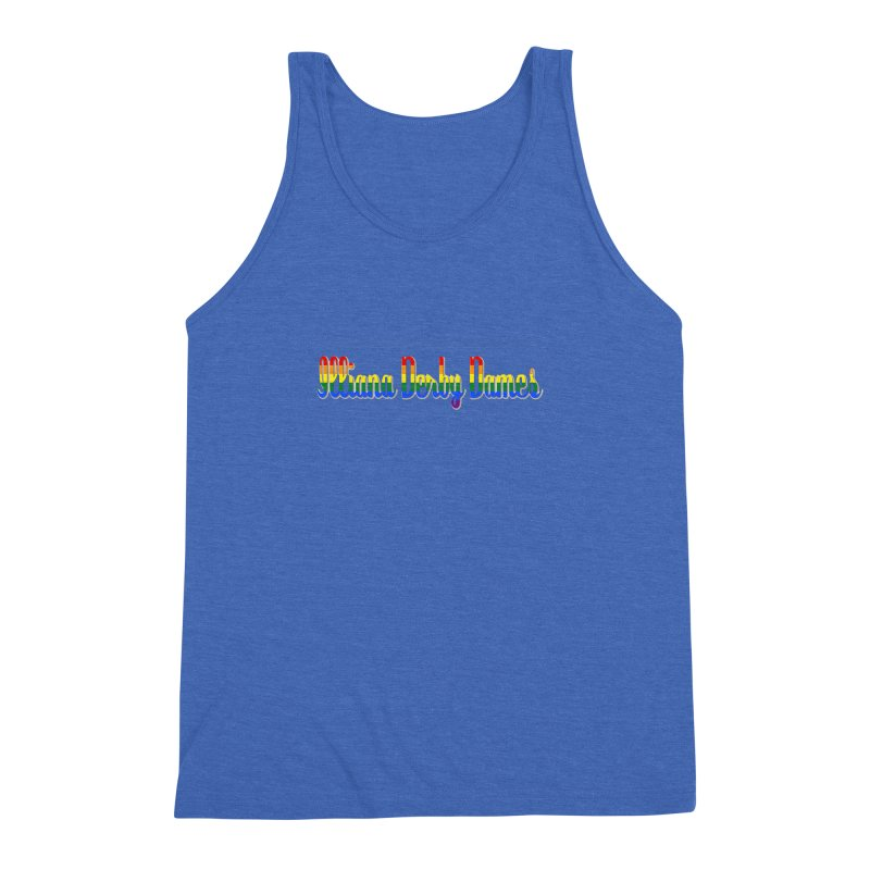 Rainbow IDD Men's Triblend Tank by Illiana Derby Dames's Team Merch Shop