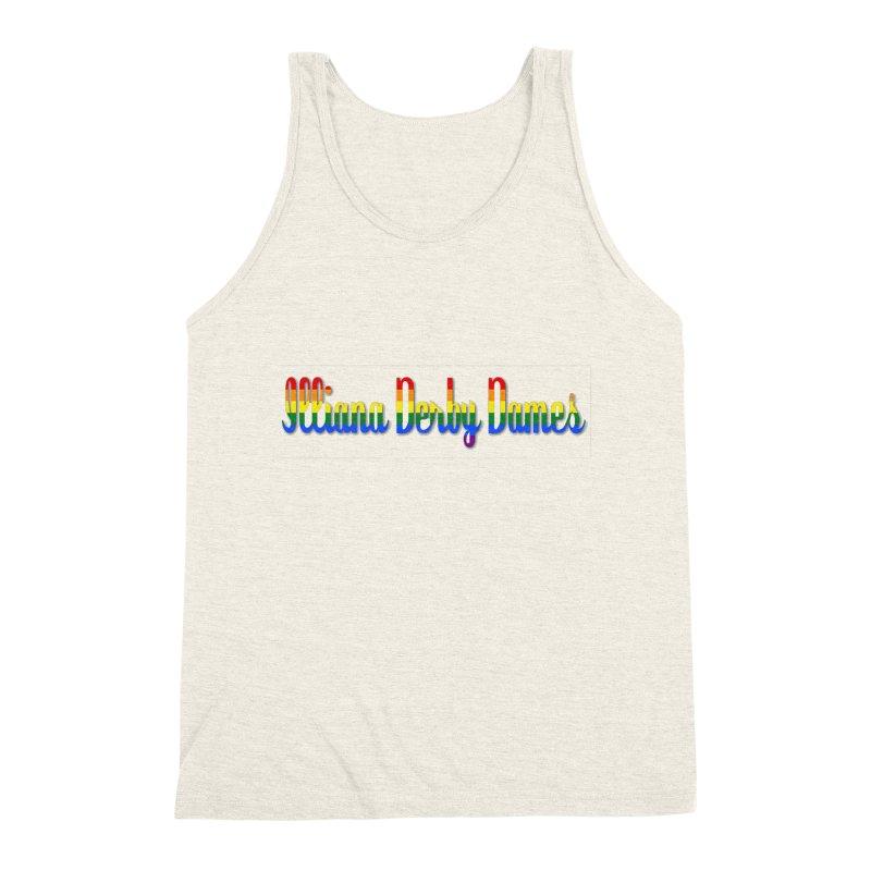 Rainbow IDD Men's Triblend Tank by Illiana Derby Dames's Team Merch Shop