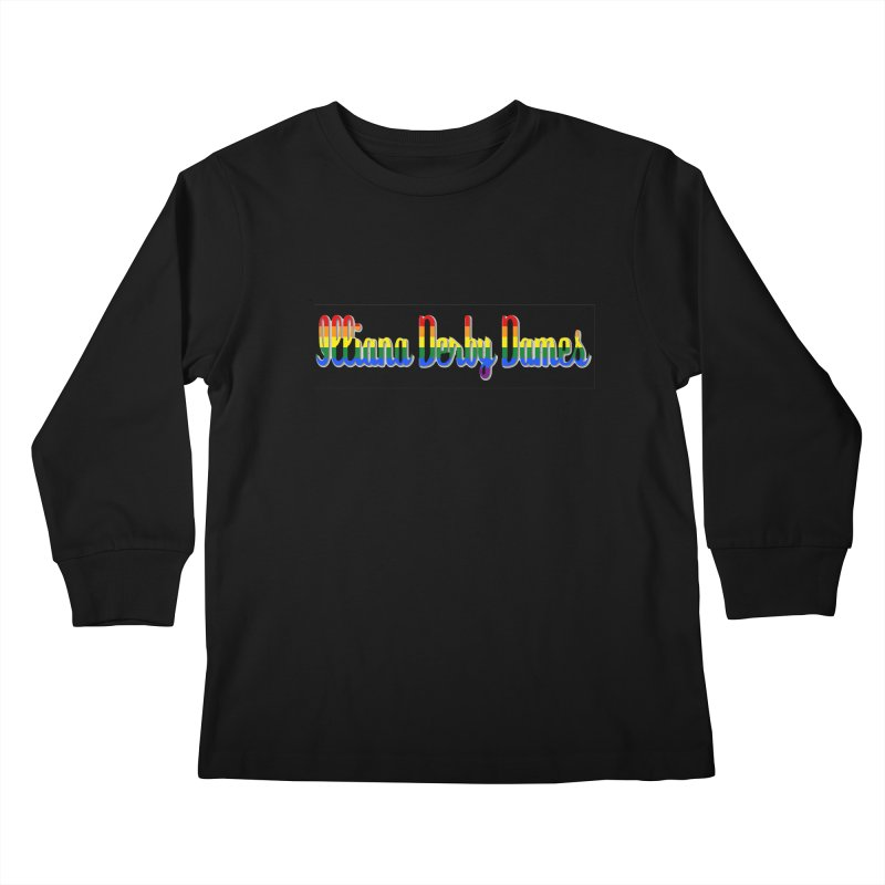 Rainbow IDD Kids Longsleeve T-Shirt by Illiana Derby Dames's Team Merch Shop