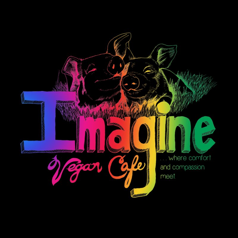 Imagine Rainbow Women's Sweatshirt by Imaginevegancafe's Artist Shop