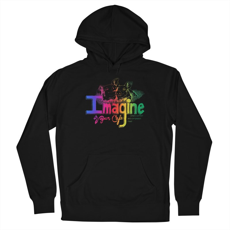 Imagine Rainbow Men's Pullover Hoody by Imaginevegancafe's Artist Shop