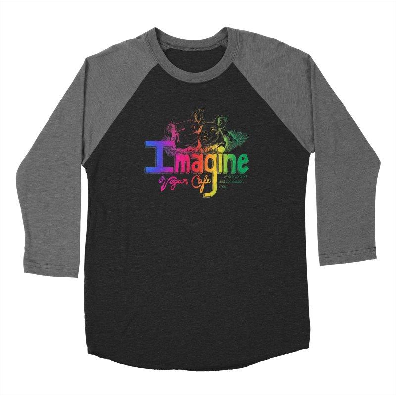 Imagine Rainbow Men's Baseball Triblend Longsleeve T-Shirt by Imaginevegancafe's Artist Shop
