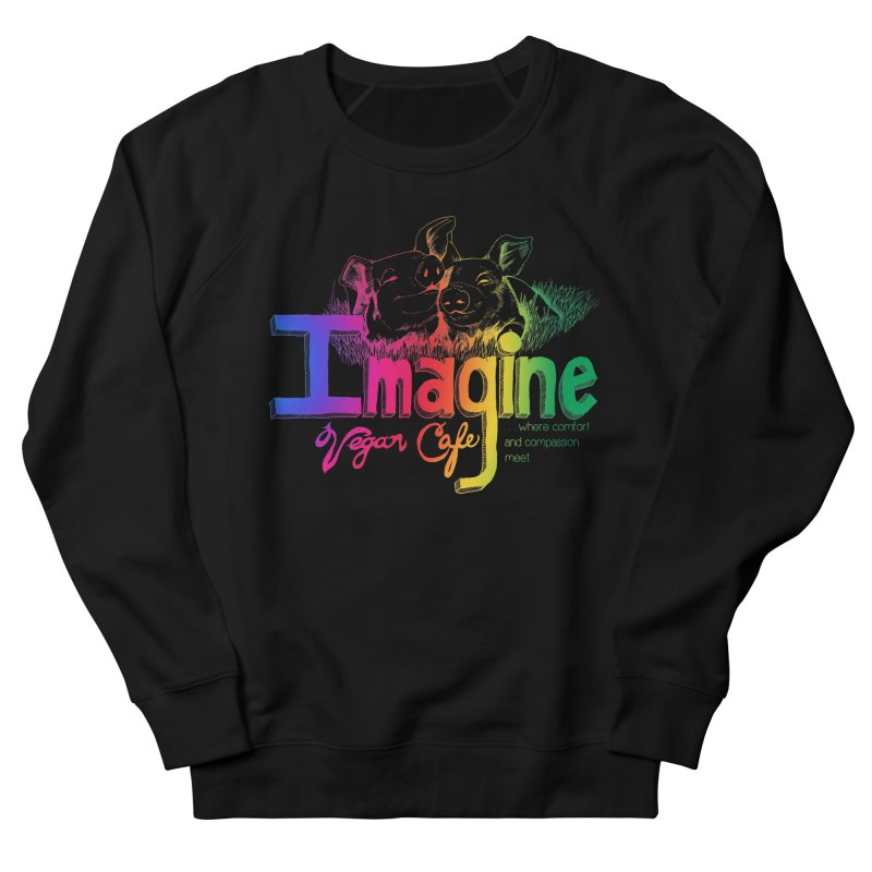 Imagine Rainbow Men's Sweatshirt by Imaginevegancafe's Artist Shop